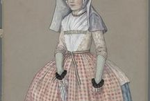 Traditional Dutch Costume, Duyvetter / Drawings of Dutch traditional costumes by Jan Duyvetter
