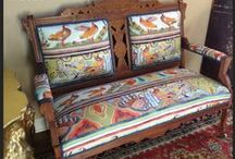 Statement Chairs / Colorful Patterned Chairs Making A Statement