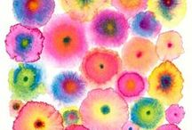 Watercolors / Painting flowers, abstract and patterns using aquarelle paints, my first art love