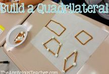 Applicious Geometry Ideas / Ideas for teaching geometry in the elementary classroom, shapes, angles, lines, quadrilaterals, polygons