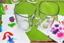 Applicious Kids Created crafts / ideas for student made crafts and gifts for all year round.