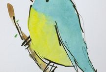 sketch inspiration - birds! / i am newly obsessed with sketching birds...fat birds!