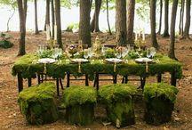 森の中のウェディング//woodland / wood, moss, stump & flowers