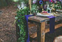 花と緑のテーブルランナー//floral & green tablerunner