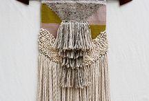 手織り壁飾り//weaved wall hangings