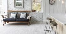 White & Grey | Wood Flooring / Wood flooring is given a reboot from golden honey hues to cool whites and greys.  There's plenty of wooden boards to choose from to create a cool, fresh look for the year ahead. www.naturalwoodfloor.co.uk