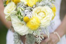 Yellow / Wedding yellow bouquet