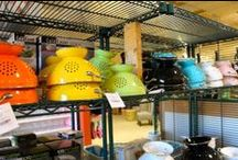 Kitchenware / At Home South, we've got your kitchenware covered.  Our numerous products include pots and pans, baking sheets, glass and ceramic bakeware, cast iron cookware, and mixing bowls.  We also maintain a fun and useful mix of high-quality kitchen gadgets to help you whip up tasty dishes in no time!