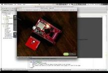 Tessel Projects / Tessel (tessel.io) is a microcontroller that runs JavaScript.  It's Node-compatible and ships with Wifi built in.  These are projects involving Tessel.