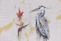 All about the Birds / Birds portrayed in painting, ceramics, bronze and glass