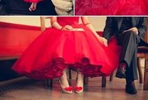 Piros esküvő inspirációk