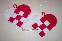 Crochet Potholders / Presine realizzate all'uncinetto