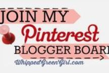 POST YOUR BLOG! Bloggers promote here / Since joining Pinterest, Group Boards have been nothing but good! Thanks to those who extended an invite - more amazingly those who kept me on board! Here's my thanks in return: my blogger board (play nice, post blog articles, have fun promote!) I won't blast rules, specifics- or delete you for ridiculous reasons like pinning more than once a day. If you want to join (FOLLOW ME 1st or I can't add you) email me at: whippedgreengirl@gmail.com - INVITE OTHER BLOGGERS TOO!