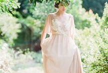 Silk & lace wedding dresses / Wedding dresses made of silk and lace. Design by Cathy Telle.