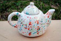 Piezas de Cerámica / Ceramica artesanal, realizada en torno alfarero, utilitaria