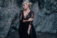 Black wedding dresses / Black wedding dresses collection by Cathy Telle.