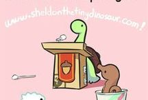 Sheldon, Tiny Dino, thinks he's a Turtle