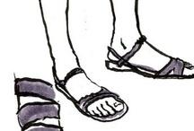 Les jambes des filles / Les jambes et les pieds des femmes, une source d'inspiration...