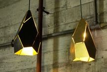 Topaz / Topaz pendants pay homage to the exquisite geometric chaos that are Nature's mineral crystallisations. These direct and indirect/atmospheric pendant lamps can be hung solely or groups, where they appear distictive in form when positioned at various angles of rotation. Brass sheet offcuts are used, reclaimed from Melbourne metal yards.Designed By Edward Linacre.