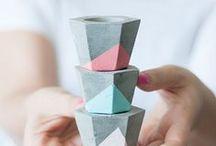 + DIY PoTs + / Des idées de contenants variés : vases, vides-poche, pot à crayons, bougeoirs, etc