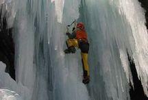 { ice climbing }