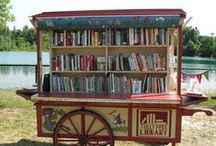 Where the Books Are / Libraries, book stores and book storage. / by Donna Hill