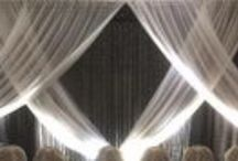 Event Drapery (404) 310-3959 / Ideas on dressing up parties, events, festivals using up lighting and drapery. Pipe and Drape.