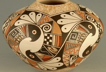 Art - American  Native Pottery / Ceramics are often used to identify archaeological cultures. The type of temper (or mix of tempers) used helps to distinguish the ceramics produced by different cultures during particular time periods. Grog, sand, and sandstone were all used by Ancestral Pueblo people and other Southwestern cultures.Crushed bone was used as temper in at least some ceramics at a number of sites in Texas.In the Southeastern United States, the earliest ceramics were tempered with fiber.  / by Judy Howard Christopoulos