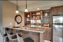 """CUSTOM HOME BARS / Custom designed cabinetry for home bars in any style or sized space. A great way to marry the """"man cave"""" with the style and elegance that will fit your home!"""