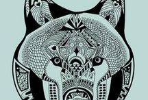 tangled sketches / zentangles, mandalas, and other sketches overloaded with details ♥