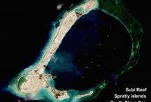 South China Sea, Spratly Islands, Paracel Islands, Mischief Reef, Fiery Cross Reef, Subi Reef / Images, especially satellite images, of happenings in the South China Sea, including the Spratly Islands, the Paracels, and other parts of the region.