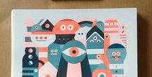 ~ Silkscreen and Risograph ~ / A collection of nice silkscreen and risograph prints on paper and fabric that we found around pinterest. Silkscreen is an amusing way to print your designs for several times. If you want to try, take a look in board ~Silkscreen   Diy ~