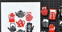 ~ Stamps ~ / linoleum and stamps