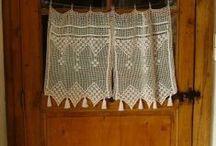 crochet /  crochet cortinas courtains rideaux