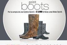 Print Boots / Por la compra de una Cartera Secret +$5.990 te llevas unas Botas Secret.