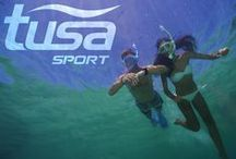 SNORKEL IN STYLE / TUSA Sport makes choosing snorkeling gear easy.  These sets are put together for anyone to use.