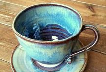 Beautiful Ceramic Mugs & Bowls / These lovely mugs and bowls are all handmade by Cumbrian potter Mary Chappelhow. The gorgeous glazes exude a calmness that perfectly compliment settling down for a cup of tea or coffee.