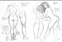 Art refs, tutorial, anatomy / Miscellaneous reference sources, anatomy studies and drawing/painting tutorials.