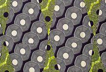 african wax block print textile / african fabric