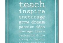 Teacher Inspiration / These are words that resonate with our philosophy for childhood education.