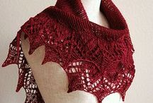 Lace knitting inspiration / It's time for me to design some new lace scarves and shawlettes.   with our alpaca lace yarn.