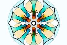 """TULL"" lamp / Handblown glass. ""Tull"" lamp by Gauzak. Manufactured by 40 Plumas."