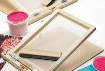 Silk screen printing ideas / Teaching silk screen printing