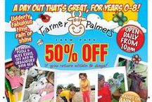 Special Offers and Events at Farmer Palmer's Farm Park / Follow this board for all the latest offers, news and events at Farmer Palmer's Farm Park, Poole, Dorset. Children's farm park attraction. Kids days out.