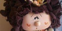 Meus trabalhos - Bonecas de tecido & madeira / Bonecas de tecido
