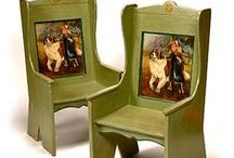 Decoratively Painted furniture 18th century