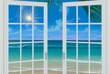 Murals Your Way / Add some heavenly ambiance to your salon with our tropical beach wall murals! Choose the image, size, and material.  www.muralsyourway.com/suntan/