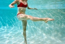 Water Fitness / Pool-time can be fun AND productive. Stay in shape in the water this year!