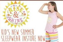 RISE & SHINE - SUMMER 2015 / Rise and Shine by Four in the Bed - sleepwear that Aussie kids will be waking up in this Summer!