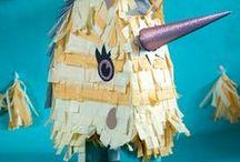 DIY: Pinata / Geburtstag, Hochzeit, Kinder, Basteln, DIY, Ideen, fröhlich, Bunt, selbermachen, Feier, Überraschung, Papier, Seidenpapier, Glitzer, Einhorn